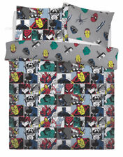 NEW MARVEL COLOUR POP DOUBLE DUVET QUILT COVER SET BOYS CHILDREN BEDROOM GIFT
