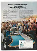 Vintage 1971 Aqua Velva Dave Puhl Illusion Indy Speedway Magazine Ad