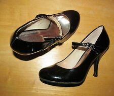Chinese Laundry Women's 6 Cute sexy goth Black Patent Baby Doll Mary Jane Pumps