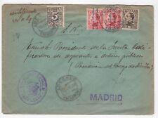 1932 sobre azul dirigido a Madrid desde Ayto. de CampoReal (Madrid)