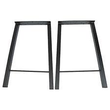 2Pcs 28'' Industry Trapezoid Dinner Table Leg Metal Steel Legs Furniture Decor