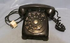 Vintage Black Rotary Dial Automatic Electric Monophone Desk Telephone N802 W20