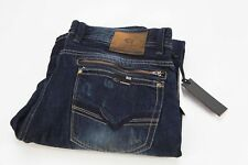 *NEW* $119 Buffalo David Button Six Slim Straight Faded Wash Denim Jeans 34/32
