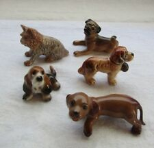 Porcelain &  Bone China Small Miniature Dogs 5 pieces.