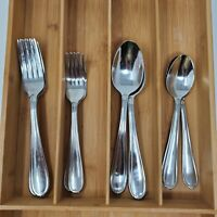 HSV133 Stainless Flatware HAMPTON SILVERSMITH 14 pc Forks Spoons Teaspoons +