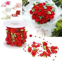 5m Rose Pearl Garland Bride's Head Flower Bouquet Wedding Festival Decoration