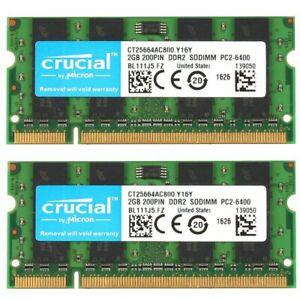 4GB 2x 2GB HP Compaq 6710b 6715b 6715s 6735s 6820s 6830s 6910p DDR2 SODIMM RAM