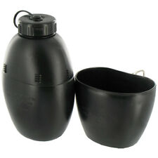 ARMY 58 PATTERN COMBAT MILITARY WATER BOTTLE PLCE CANTEEN & MUG CAMPING BLACK