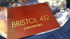 Bristol 412 Sales Brochure - 14 pgs - ENGLISH LANG