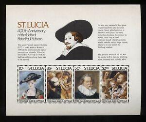 St. Lucia 1977 400° nascita di Rubens BF nuovo integro MNH T1631