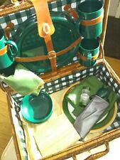 Vintage Picnic Basket And Contents