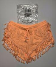 Victorias Secret Tassel Shorts Size Small Orange Beach Cover Up Fringe NWOT