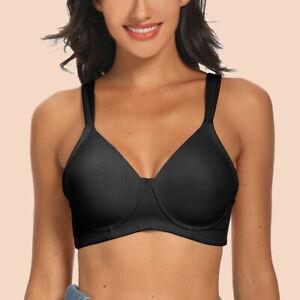 Women Bras Soft Wireless Sexy Lingerie Large Bosom Brassiere Underwear 38B-56E