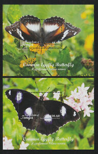 # F1 & F2 Tonga (2018) Butterfly Registered Mail