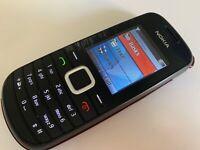 Nokia 1661 - Black (Unlocked) Basic Button Mobile Phone