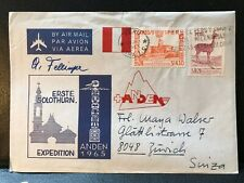 1965 Peru Expedition Signed Air Mail Postal Cover to Switzerland + Inner ref244