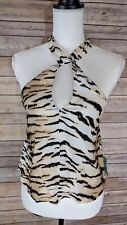 Forever 21 Contemporary Crop Top Tiger Print Sz XS NWT