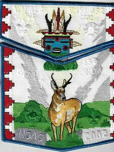 OA Wipala Wiki Lodge 432 2002 NOAC Flap Set BLU Bdr. [MX-7823]