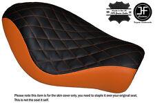 Negro y Naranja Diamante Custom Para Harley Sportster Low Hierro 883 Solo Cubierta de asiento