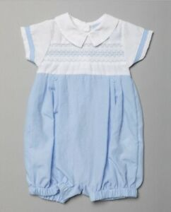 New in baby boys Spanish traditional romany style smocked outfit