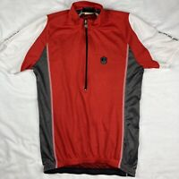 Campagnolo Racing Mens Large L Cycling Jersey 1/2 Zip Black Red Bike Campy