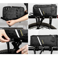 Bicycle Seat Rear Bag Waterproof Bike Pannier Rack Pack Zipper Cycling Carrier