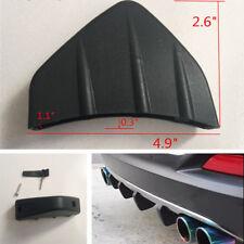 4Pcs Black PVC Car Modified Rear Bumper Diffuser Shark Fin Spoiler Anti-scratch