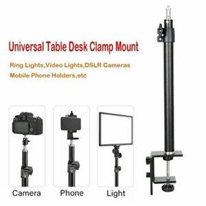 Universal Table Desk Clamp Mount Stand Tablet Phone Bracket holder Extension Rod