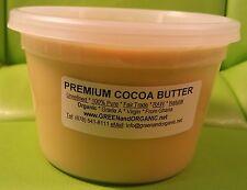 Raw 100%Pure Fresh Organic Unrefined Prime Cacao Cold Pressed COCOA BUTTER 16 oz