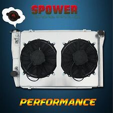 Aluminum Radiator + Fan Shroud For Ford Falcon XC XD XE XF V8 6CYL 1973-1983