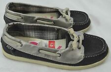 Roxy Shoes Dinghy canvas Leather Boat Shoes Flats Loafers Women Slides shoe 6.5