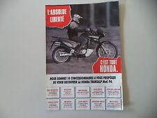 advertising Pubblicità 1994 MOTO HONDA XL 600 V TRANSALP RALLY TOURING
