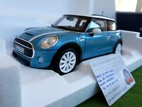 BMW MINI COOPER S 2015 light blue 1/18 NOREV 183111 voiture miniature collection