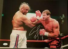 Tommy Morrison signed 12x16 photo vs George Foreman  JSA COA