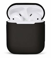 Apple Airpod Charging Case AirPods Silicone Case Cover Protective Skin Black