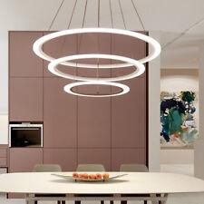 Acrylic Led Ring Pendant Lamp Chandelier Ceiling Light glass Crystals White 110V