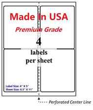 2000 Premium Shipping Labels 4x5 Made In Usa Self Adhesive Blank Labels 85x11