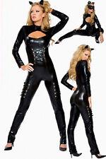 WET LOOK CATSUIT GANZANZUG IM LACK-/ LATEX-STYLE DOMINA Costume Rompers Jumpsuit