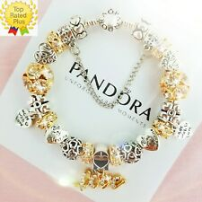 Authentic Pandora Charm Bracelet Silver Bangle with Love Story European Charms
