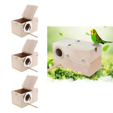 3x nido in legno per uccelli selvatici nidificazione mangiatoia stazione di