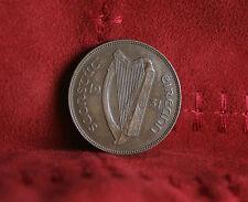 Penny Ireland 1931 Bronze World Coin Irish Harp Hen with Chicks Eire pence Nice