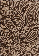 "2x8 Milliken Cashmira Truffle Casual Floral Paisley Area Rug - Approx 2'1""x7'8"""