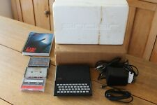 VINTAGE SINCLAIR ZX81 COMPUTER WITH BOX + POWER LEAD + BASIC PROGRAMMING + TAPES