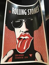 RARE ROLLING STONES Cuban Poster / Promo to the historic concert in Havana