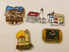 Lot Vtg US West AZ Northwest Seattle Washington Portland Refrigerator Magnets