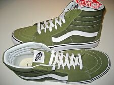 Vans Mens Sk8-Hi Winter Moss Green White Canvas Suede Skate Shoes Size 13 NWT