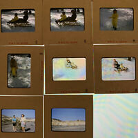 Lot of 8 Vintage 1958 Snow Sled Projector 35mm Slides Mt Mount Charleston 1950s