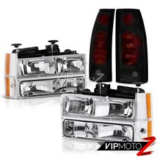 1992-1993 Chevy Suburban C1500 C2500 Euro Clear 8PC Head Lamp Corner Tail Light