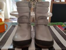 Childrens size 8 25 silver and white boots BNIB