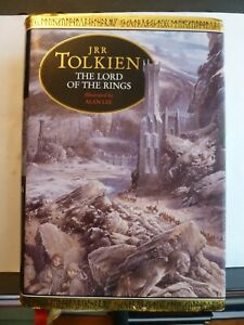 THE LORD OF THE RINGS - J.R.R. TOLKIEN Hardback 1991 Illustrated by Alan Lee